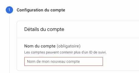 Configuration compte analytics