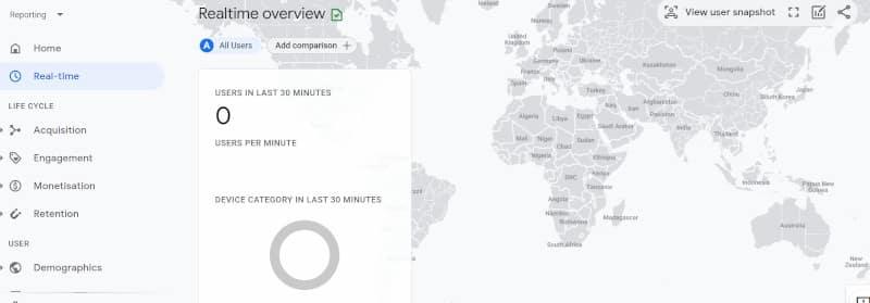 temps réel analytics 4