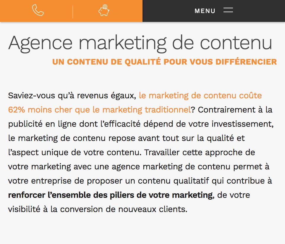 Maillage interne et externe d'une contenu web